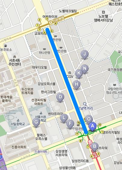 하루 11만명 걷는 강남대로 이젠 '금연대로'